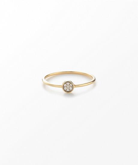 K10YG ブリリアント ブラウンダイヤモンド リングの写真