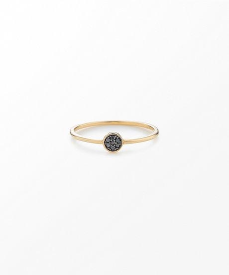 K10YG ブリリアント ブラックダイヤモンド リングの写真
