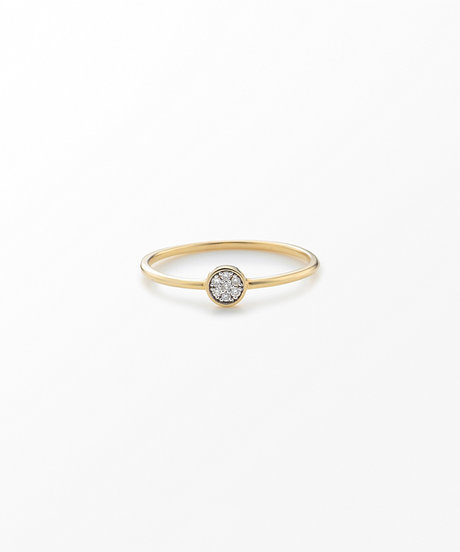 K10YG ブリリアント ダイヤモンド リングの写真