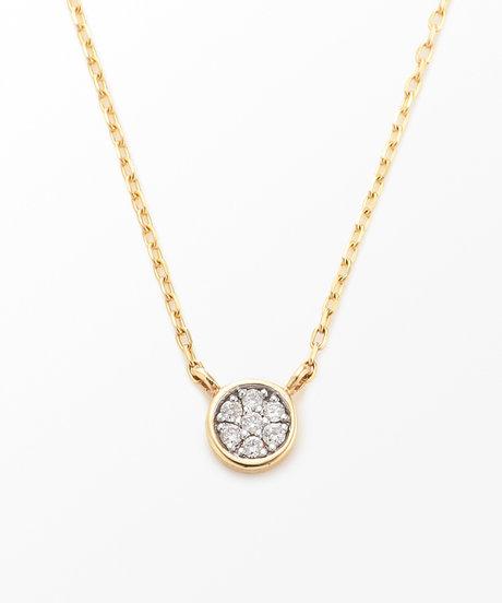 K10YG ブリリアント ダイヤモンド ネックレスの写真