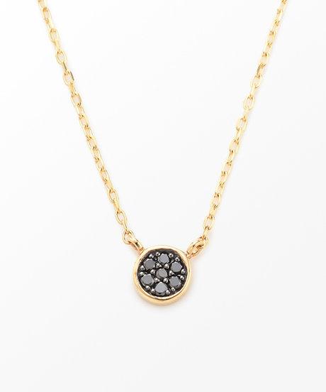 K10YG ブリリアント ブラックダイヤモンド ネックレスの写真