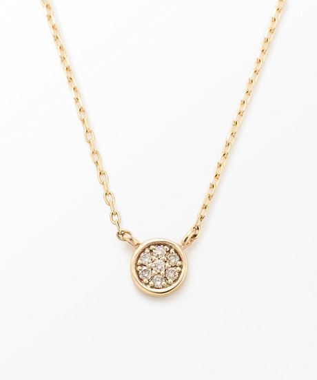 K10YG ブリリアント ブラウンダイヤモンド ネックレスの写真