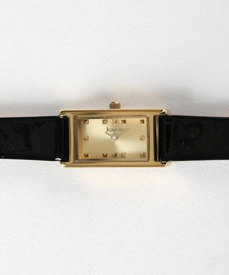 タイムピース 横長 ブラック×ゴールドの写真