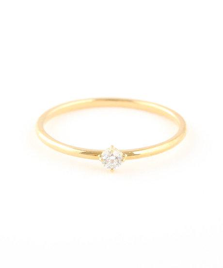 K18YG ダイヤモンド リング「ブライト」の写真