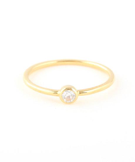 K18YG ダイヤモンド 0.1ct リング「ブライト」の写真