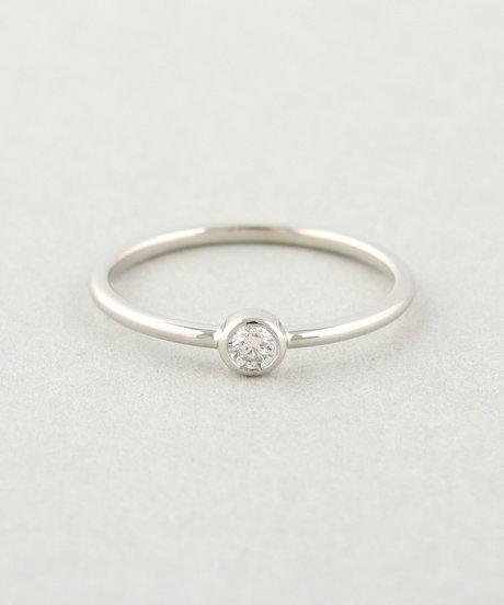 PT900 ダイヤモンド 0.1ct リング「ブライト」の写真