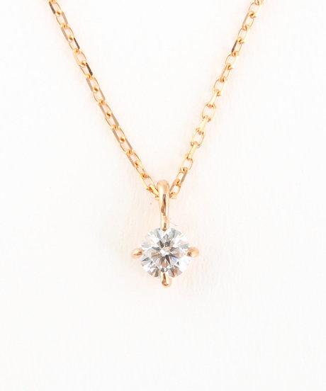 K18PG ダイヤモンド ネックレス「ブライト」の写真