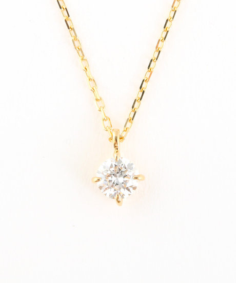 K18YG ダイヤモンド 0.2ct ネックレス「ブライト」の写真