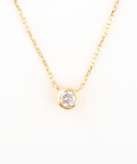 K18YG ダイヤモンド ネックレス「ブライト」の写真