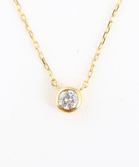 K18YG ダイヤモンド 0.1ct ネックレス「ブライト」の写真