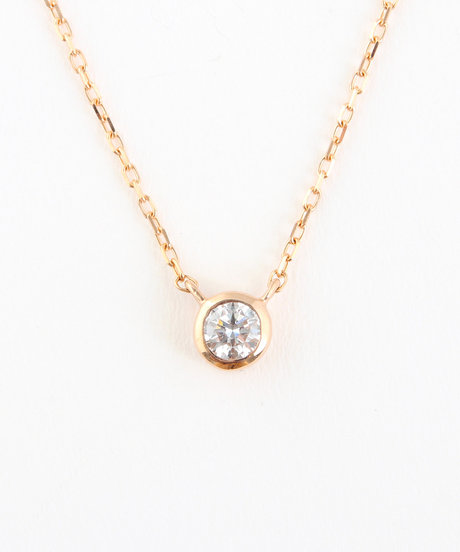 K18PG ダイヤモンド 0.1ct ネックレス「ブライト」の写真