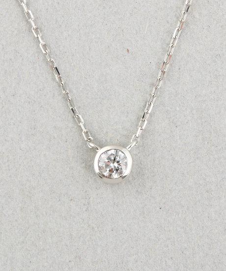 PT900 ダイヤモンド 0.1ct ネックレス「ブライト」の写真