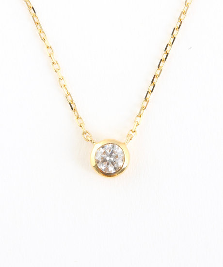 K18YG ダイヤモンド 0.15ct ネックレス「ブライト」の写真