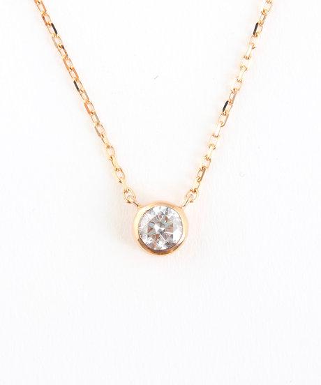 K18PG ダイヤモンド 0.15ct ネックレス「ブライト」の写真