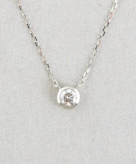 PT900 ダイヤモンド 0.15ct ネックレス「ブライト」の写真
