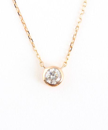 K18PG ダイヤモンド 0.2ct ネックレス「ブライト」の写真