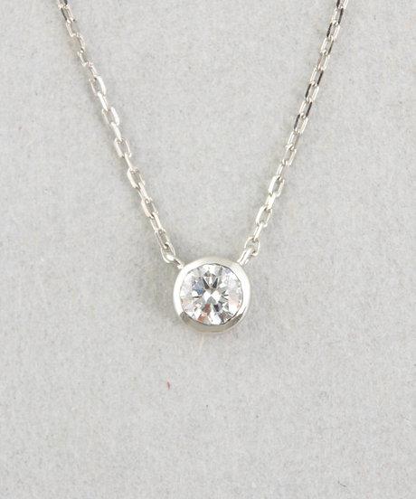 PT900 ダイヤモンド 0.2ct ネックレス「ブライト」の写真